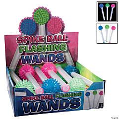 Plastic Flashing Spiky Ball Sticks