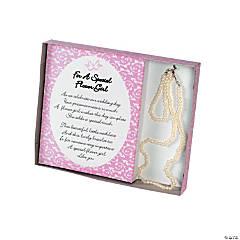 Plastic Flower Girl Necklace And Bracelet Gift Set