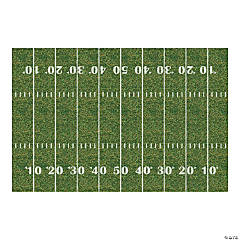 Plastic Football Field Backdrop Banner