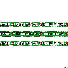 Plastic Football Party Zone Caution Tape
