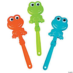Plastic Frogs with Googly Eyes Shaped Clappers