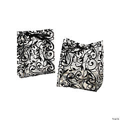Plastic Frosted Black And White Wedding Bags
