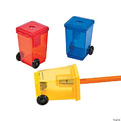 Plastic Garbage Can Pencil Sharpeners