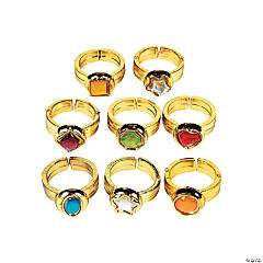 Plastic Gem Rings