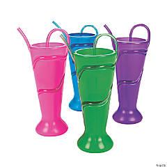 Plastic Glasses with Krazy Straws®
