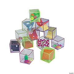 Plastic Glitter Cube Mind Teasers
