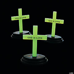 Plastic Glow-in-the-Dark Crosses