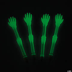 Plastic Glow-in-the-Dark Skeleton Hand Pens