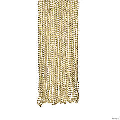 Plastic Gold Metallic Beads