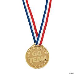 Plastic Gold Teamwork Medals