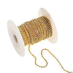 Plastic Goldtone Ball Chain Spool