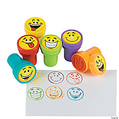 Plastic Goofy Smile Face Stampers