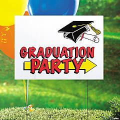 Plastic Graduation Party Yard Sign
