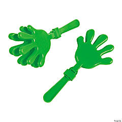 Plastic Green Hand Clappers