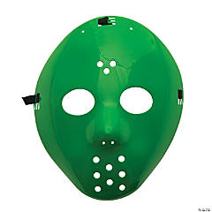 Plastic Green Hockey Masks