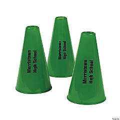 Plastic Green Personalized Megaphones