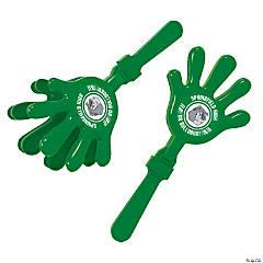 Plastic Green Team Spirit Custom Photo Hand Clappers