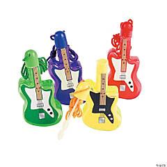 Plastic Guitar Bubble Bottle Necklaces - 12 Pc.