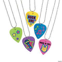 Plastic Guitar Pick Necklaces