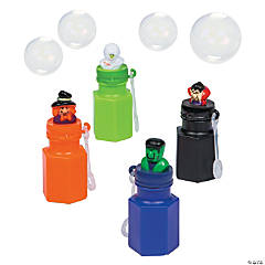 Plastic Halloween Character Bubble Bottles