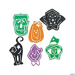 Plastic Halloween Character Stencil Bookmarks