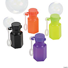 Plastic Halloween Mini Bubble Bottles