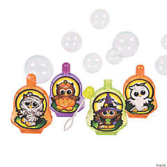 Plastic Halloween Owl Bubble Bottles