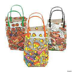 Plastic Halloween Pattern Gift Bags