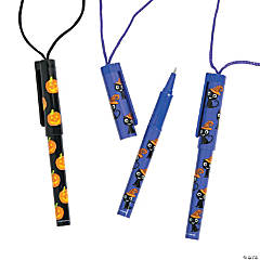 Plastic Halloween Pens on a Rope