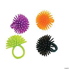 Plastic Halloween Porcupine Rings