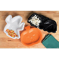 Plastic Halloween Shaped Serving Trays
