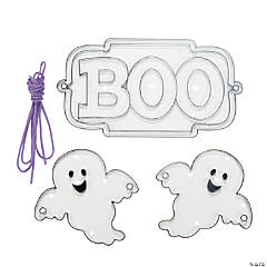 Plastic Halloween Suncatcher Banners