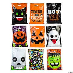 Plastic Halloween Trick-or-Treat Goody Bag Assortment