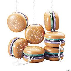 Plastic Hamburger YoYos