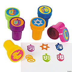 Plastic Hanukkah Stampers