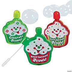 """Plastic """"Happy Birthday Jesus!"""" Bubble Bottles"""