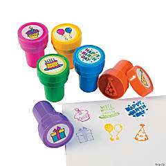 Plastic Happy Birthday Stampers