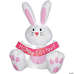 Plastic Happy Easter Bunny Airblown