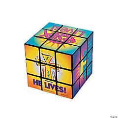 "Plastic ""He Lives!"" Magic Cubes"
