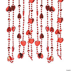 Plastic Heart-Shaped Beaded Necklaces