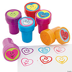 Plastic Heart Smile Face Stampers