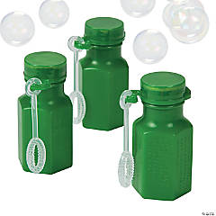 Plastic Hexagon Green Bubble Bottles