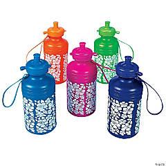 Plastic Hibiscus Water Bottles