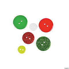 Plastic Holiday Bag of Buttons