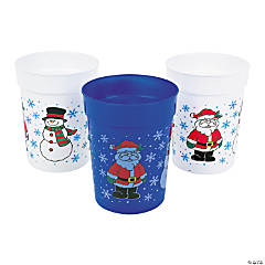 Plastic Holiday Cups