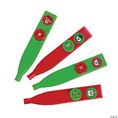 Plastic Holiday Kazoos