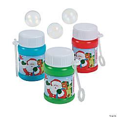 Plastic Holiday Mini Bubble Bottles - 24 Pc.