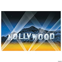 Plastic Hollywood Backdrop Banner