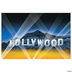 Plastic Hollywood Backdrop Banner
