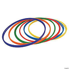 """Plastic Hoops, 30"""", Assorted Colors, Pack of 12"""